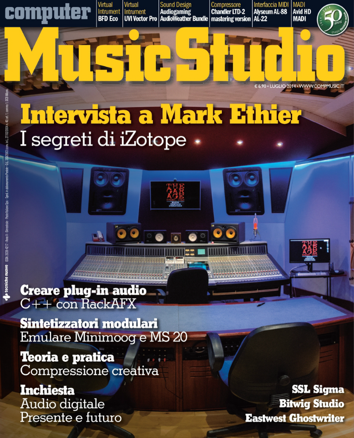 The Garage Studio in copertina su Computer Music Studio